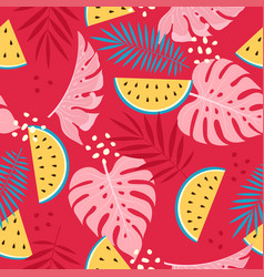 exotic fruit tropical pattern vector image