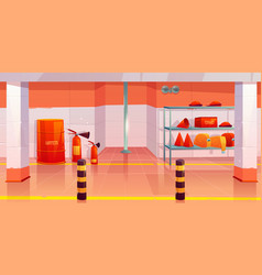 fire station or garage empty interior utility room vector image