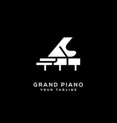 Grand piano logo vector