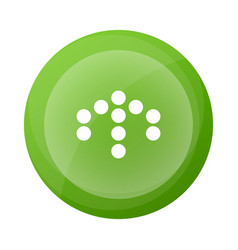 green round button with arrow symbol vector image
