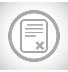 Grey declined document sign icon vector