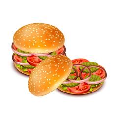 hamburger 05 vector image