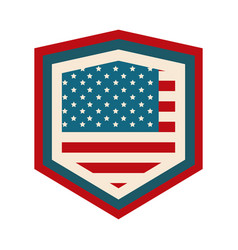 Happy independence day american flag shield vector