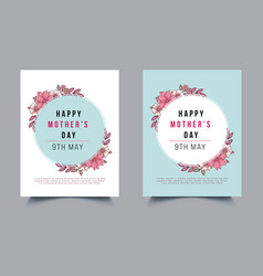 Happy mothers day flyer template vector