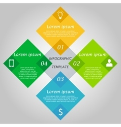 Hexagon infographics concept vector