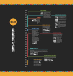 infographic multi timeline report template vector image
