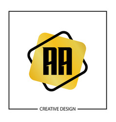 Initial letter aa logo template vector