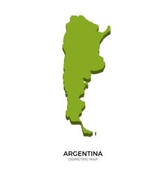 Isometric map of argentina detailed vector