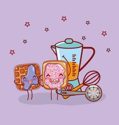 Kitchen items cartoon kawaii cartoon vector