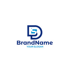 Letter d and s logo design vector