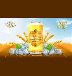 light beer ads template vector image