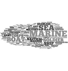Marine word cloud concept vector