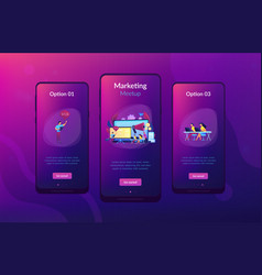 marketing meetup app interface template vector image