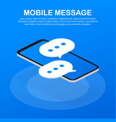 mobile message usage for e-mail newsletters web vector image