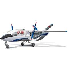 Modern aircraft vector