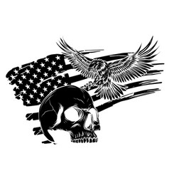 national symbol usa flag and eagle vector image