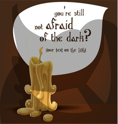 Not afraid of the dark vector image
