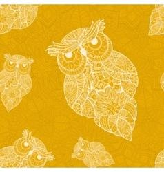 ornamental owl Bird vector image