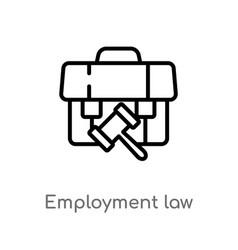 Outline employment law icon isolated black simple vector