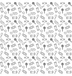 pattern candy line vector image