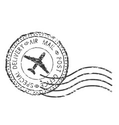 Post service special delivery air mail black vector