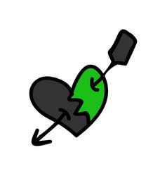 Punk rock heart clipart vector