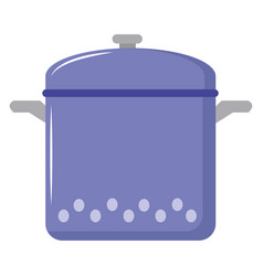 Purple saucepan on white background vector