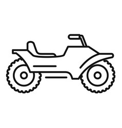 racing quad bike icon outline style vector image