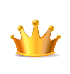 Realistic of shiny golden metal king crown vector