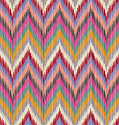 Seamless ikat wallpaper vector