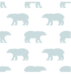 seamless polar bear pattern scandinavian style vector image