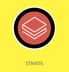 Set of physical golden coin stratis strat digital vector