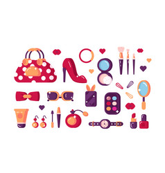 set womens accessories vector image