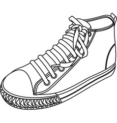 Simple shoe design vector