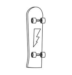 skate board extrem sport equipment wheel wooden vector image