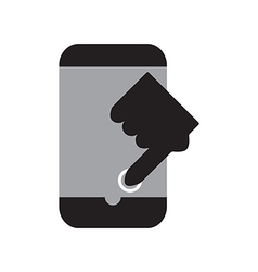 Touch smart phone vector image