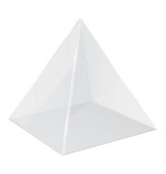 Transparent pyramid 3d geometric shape vector