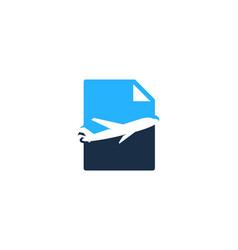 Travel document logo icon design vector