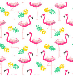 tropical flamingo seamless pattern vector image