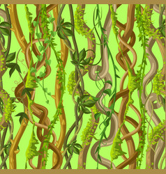 twisted wild lianas seamless pattern vector image