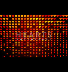 Valentines day background with glossy red vector