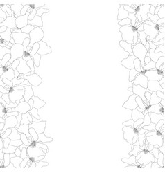 vanda miss joaquim orchid outline border vector image