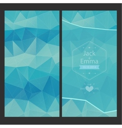 wedding invitation in a modern style vector image