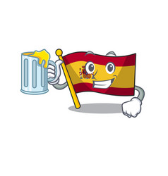 With juice flag spain isolated in cartoon vector