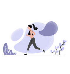 with running girl in flat vector image