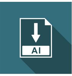 ai file document icon download ai button icon vector image vector image