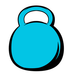 black kettlebell icon icon cartoon vector image vector image