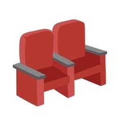 Cinema chairs vector