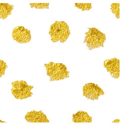 seamless pattern with polka dots gold gold dots vector image vector image