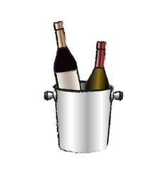 wine drink design vector image